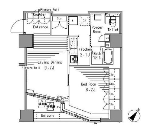 パークアクシス日本橋浜町806号室