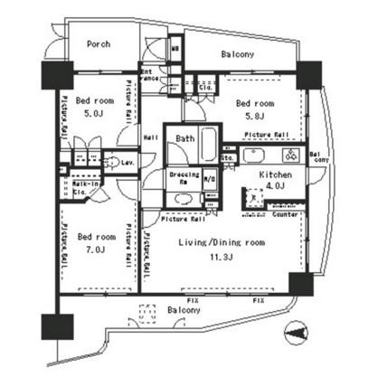 パークアクシス四谷ステージ1207号室