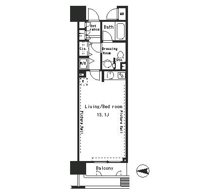パークアクシス四谷ステージ204号室