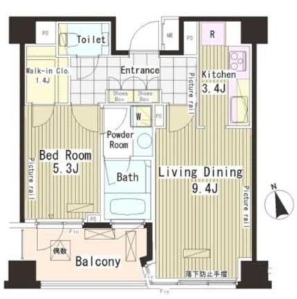 パークアクシス恵比寿417号室