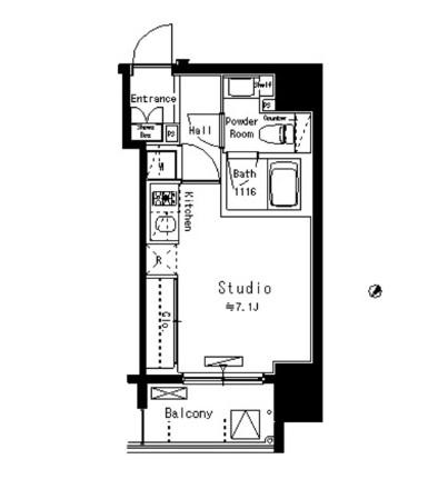 パークアクシス八丁堀1206号室