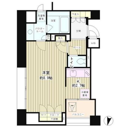 パークアクシス白金台南1302号室