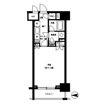 パークキューブ神田1004号室