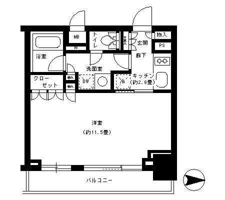 パークキューブ神田1304号室