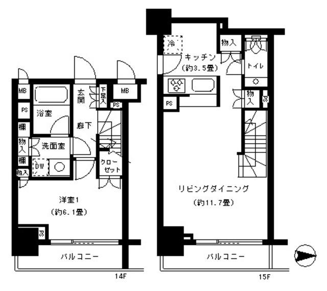 パークキューブ神田1408号室