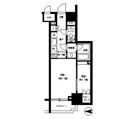 パークキューブ神田502号室