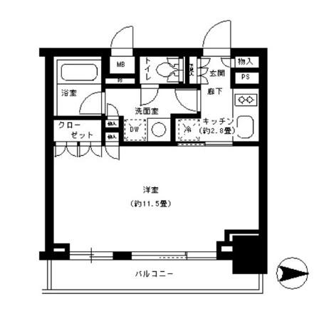 パークキューブ神田806号室