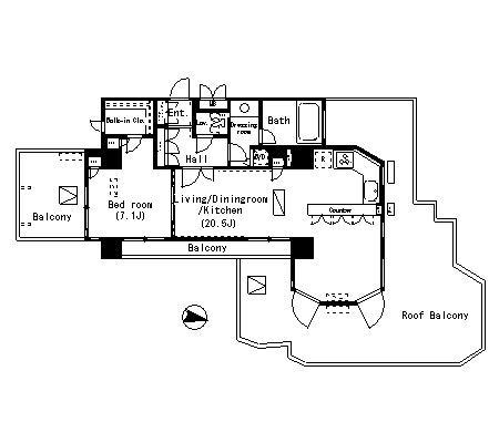 パークアクシス明治神宮前702号室
