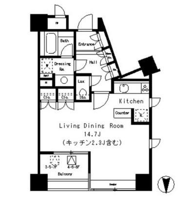 パークアクシス麻布仙台坂403号室