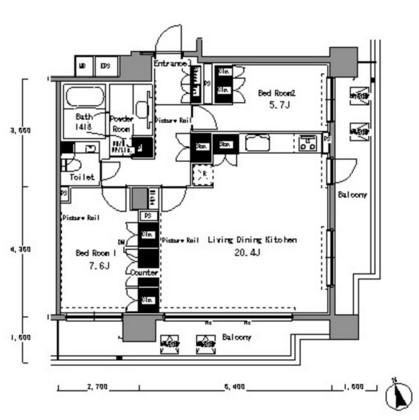 パークアクシス渋谷桜丘サウス1302号室