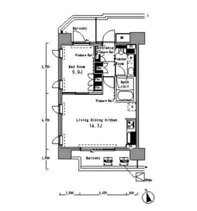 パークアクシス渋谷桜丘サウス604号室