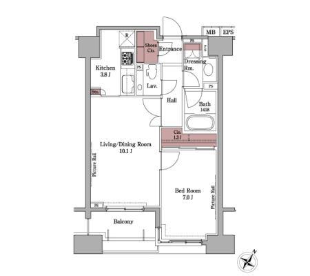 パークアクシス白金台304号室