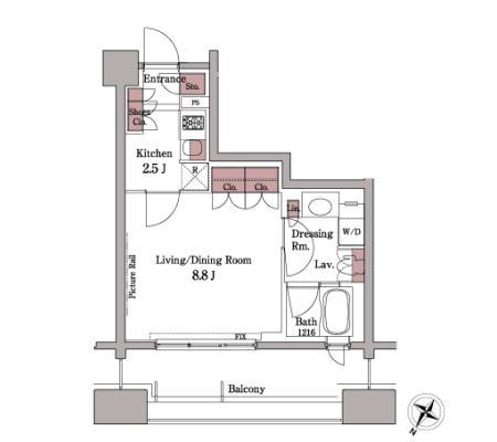 パークアクシス白金台308号室