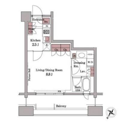 パークアクシス白金台408号室