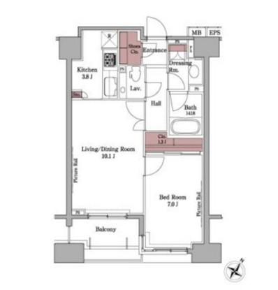 パークアクシス白金台504号室