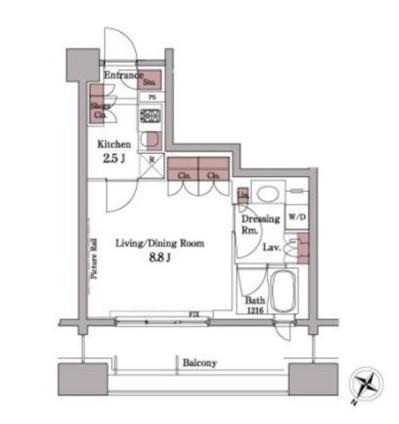 パークアクシス白金台508号室