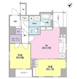グランスイート銀座レスティモナーク1008号室