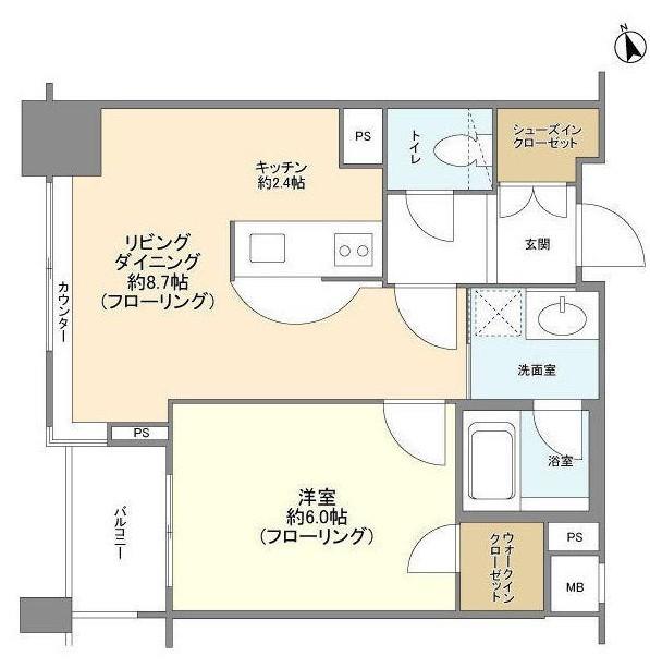 ファミール新宿グランスイートタワー4F号室