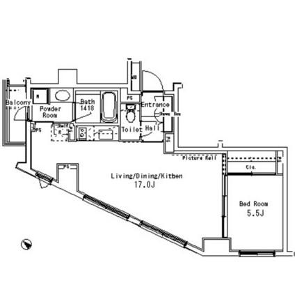 パークアクシス六本木檜町公園203号室