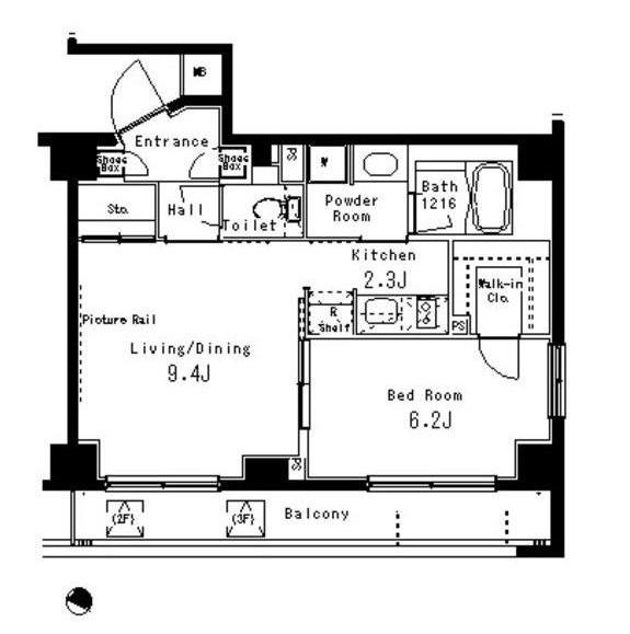 パークアクシス六本木檜町公園208号室