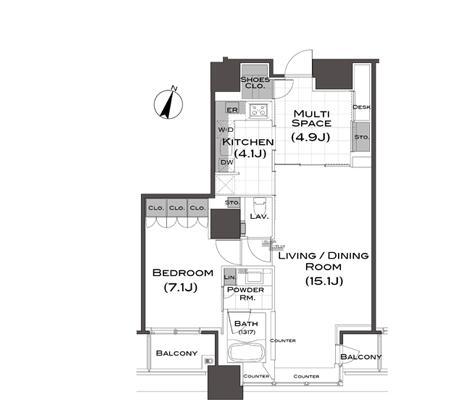 パークアクシス青山一丁目タワー1006号室