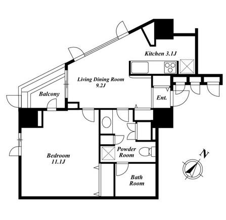 KDXレジデンス白金Ⅰ1303号室