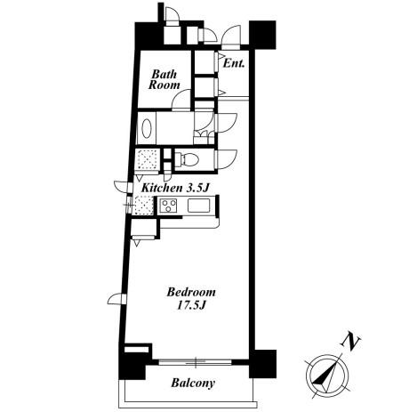 KDXレジデンス白金Ⅰ308号室