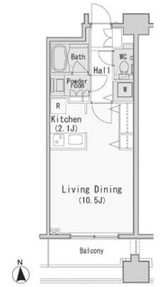 レジディア西麻布202号室