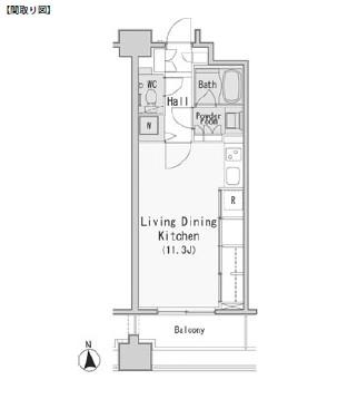レジディア西麻布403号室