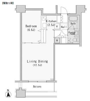 レジディア西麻布405号室