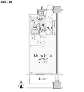 レジディア西麻布510号室