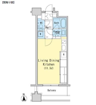 レジディア西麻布611号室