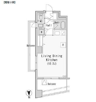 レジディア西麻布613号室