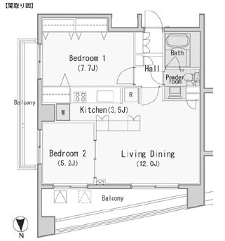 レジディア西麻布813号室