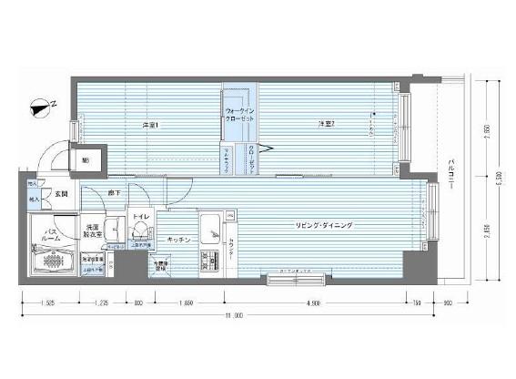 レジディア銀座東1107号室