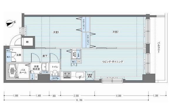 レジディア銀座東1207号室