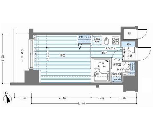 レジディア銀座東1402号室