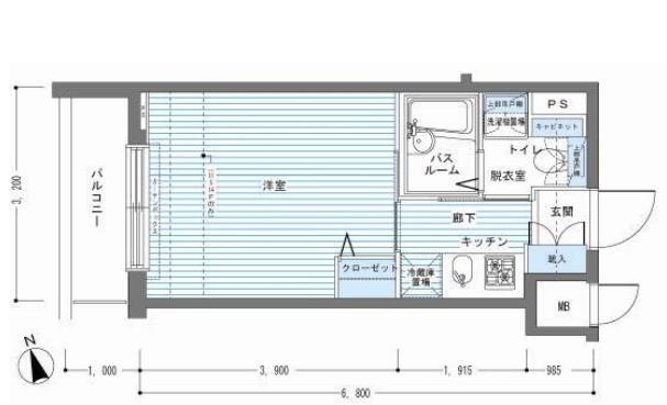 レジディア銀座東504号室