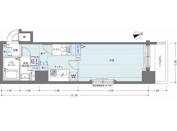 レジディア銀座東508号室