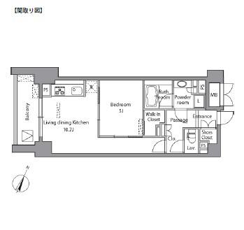 レジディア水道橋502号室
