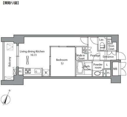 レジディア水道橋504号室