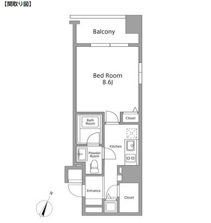 レジディア築地205号室