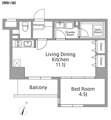 レジディア築地306号室
