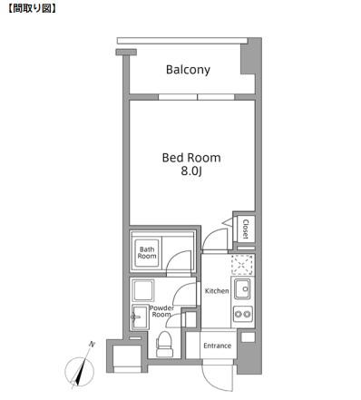 レジディア築地603号室