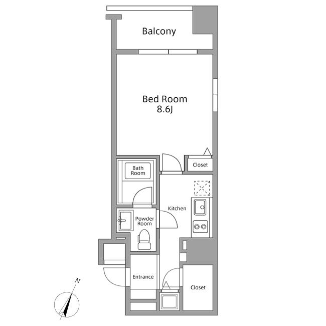 レジディア築地605号室