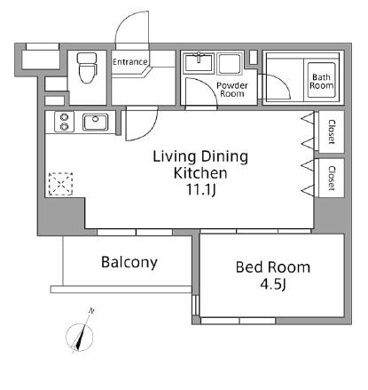 レジディア築地606号室