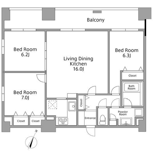 レジディア築地801号室