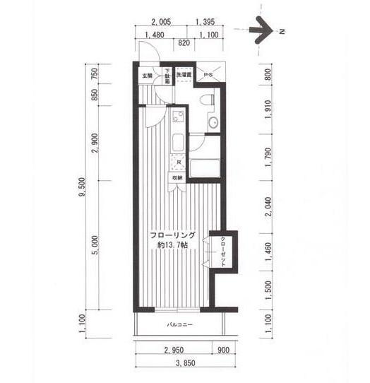 広尾レジデンスB202号室