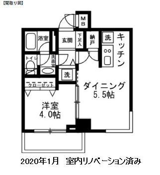 レジディア新宿イースト301号室