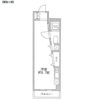 レジディア新宿イースト407号室